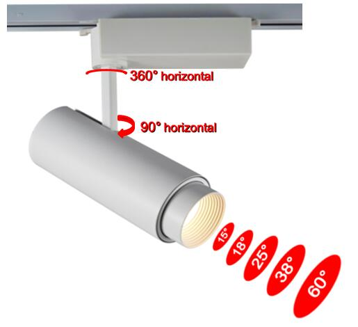 best website 8e4b5 c77f1 beam angle adjustable 30W led track light-New Products